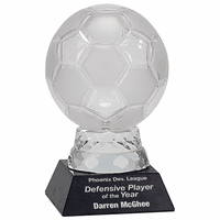 Personalized Crystal Soccer Award
