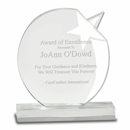 Personalized Crystal Star Award