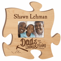 Personalized Dads Puzzle Piece Photo Frame - Discontinued