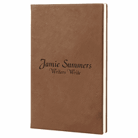 Personalized Dark Brown Journal with Black Satin Bookmark