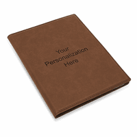 Personalized Dark Brown Leatherette Mini Portfolio
