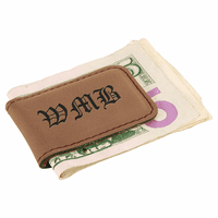 Personalized Dark Brown Magnetic Money Clip