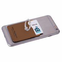 Personalized Dark Brown Phone Wallet with Ring