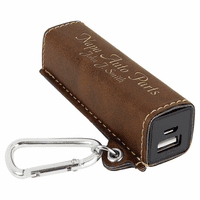Personalized Dark Brown USB Power Bank