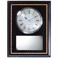 Personalized Ebony Plaque With Clock