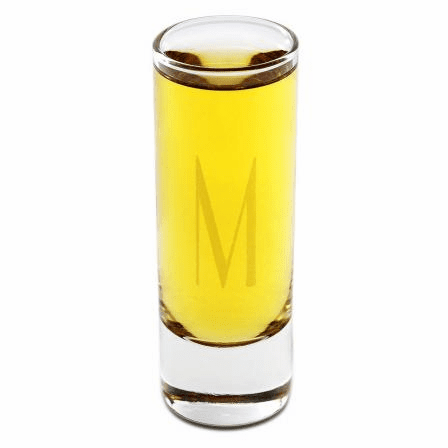 Personalized Engraved 2.5 Ounce Slim Shot Glass