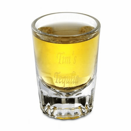 Personalized Engraved Round 2 Ounce Shot Glass