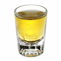 Personalized Engraved Round 2 Ounce Shot Glass - Discontinued