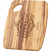 Personalized Family Theme Tiger Wood Cutting Board