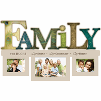 Personalized Family Word Style Photo Frame - Discontinued