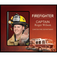 Personalized Firefighter Picture Frame - Discontinued