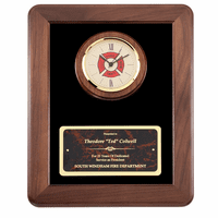 Personalized  Firefighter's Clock and  Frame