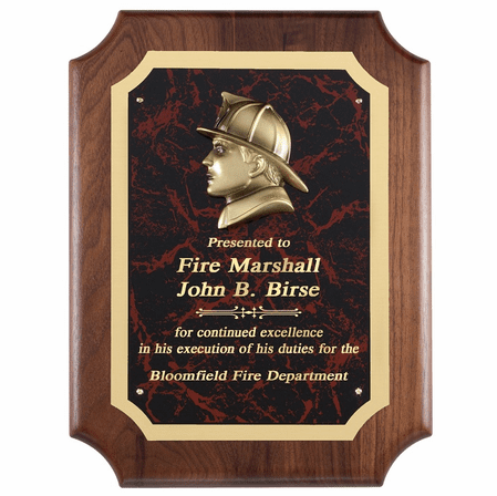 Personalized  Firefighter's Plaque With Beveled Corners