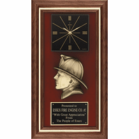 Personalized  Firefighter's Recogntion Award With Clock