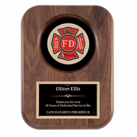 Personalized  Firefighter's Shield Plaque