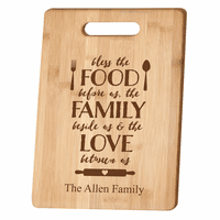 Personalized Food Family Love Bamboo Cutting Board