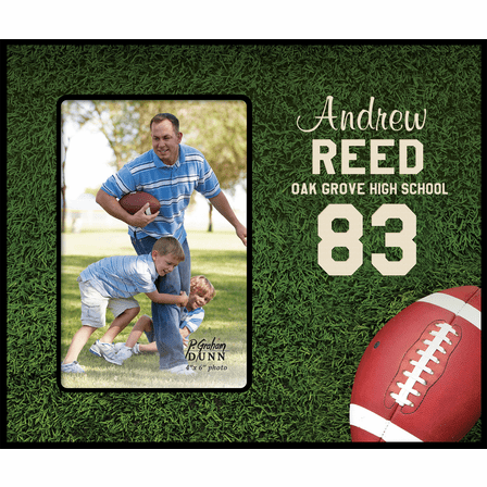 Personalized Football & Grass Picture Frame