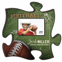 Personalized Football Puzzle Piece Photo Frame - Discontinued
