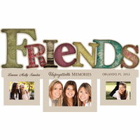 Personalized Friends Word Style Photo Frame