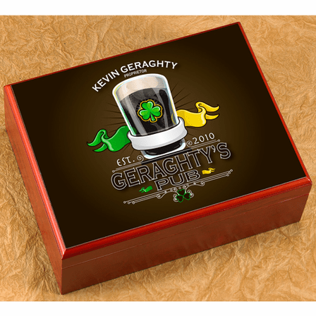 Personalized Full Color 20 Count Cigar Humidor - Discontinued