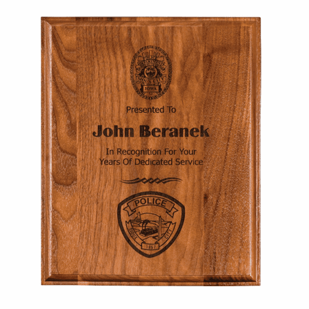 Personalized Genuine Walnut Plaque
