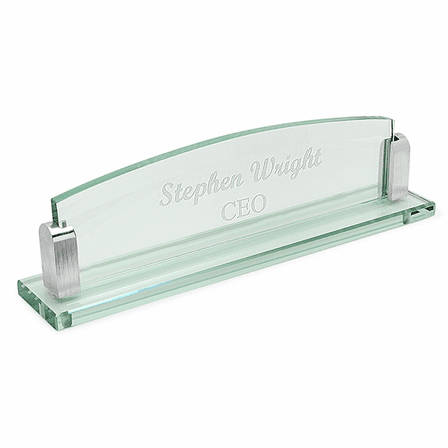 Personalized Glass Desktop Name Plate