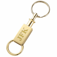Personalized Gold Valet Key Ring