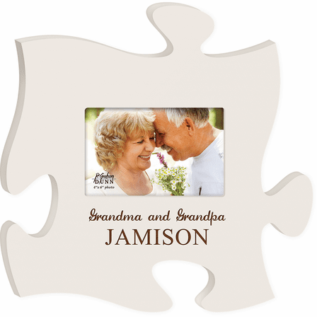 Personalized Grandparents Puzzle Piece Photo Frame