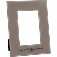 """Personalized Gray 5"""" x 7"""" Picture Frame"""