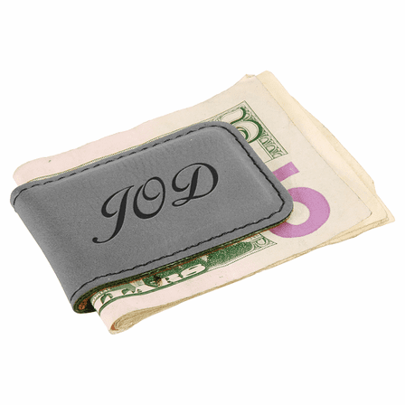 Personalized Gray Magnetic Money Clip