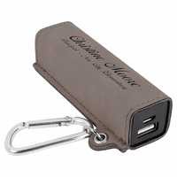 Personalized Gray USB Power Bank