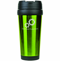 Personalized Green Travel Coffee Mug