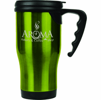 Personalized Green Travel Coffee Mug With Handle