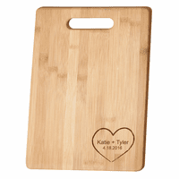 Personalized Heart Theme Bamboo Cutting Board