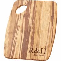 Personalized Initials Tiger Wood Cutting Board