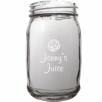 Personalized Juice Theme 16 Ounce Mason Jar
