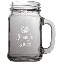 Personalized Juice Theme 22 Ounce Mason Jar