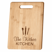 Personalized Kitchen Theme Bamboo Cutting Board