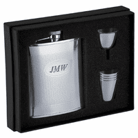 Personalized Knit Design Flask Gift Set