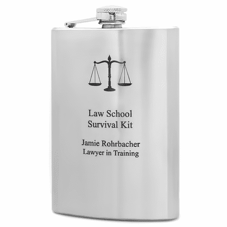 Personalized Law School Survival Kit Flask