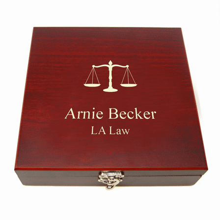 Personalized Lawyer's Flask & Gaming Set