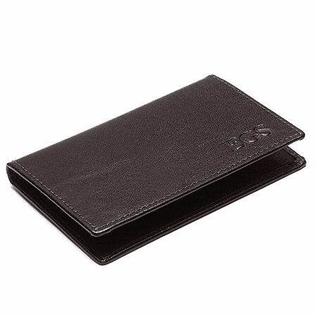 Personalized Leather Business & Credit Card Case