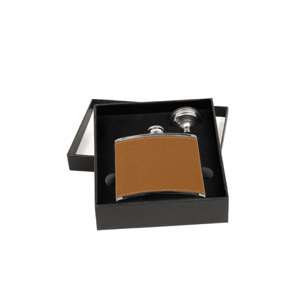 Personalized Leather Flask & Funnel Set