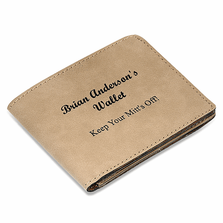 Personalized Leatherette Bifold Wallet