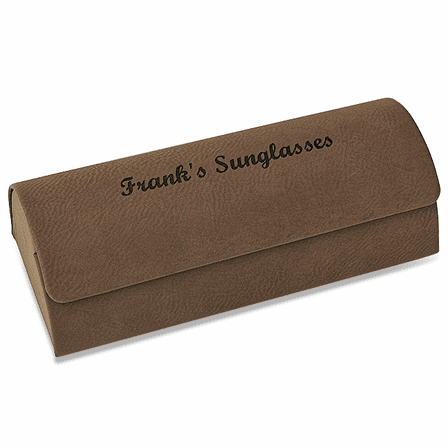 Personalized Leatherette Eyeglass Case