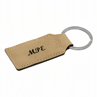 Personalized Leatherette Key Ring