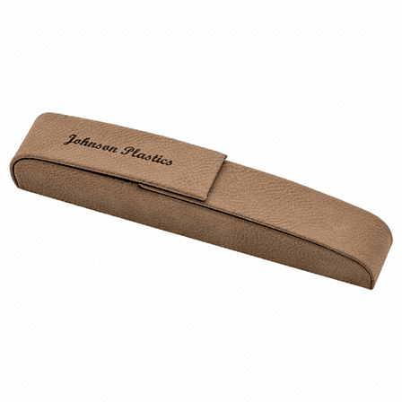 Personalized Leatherette Single Pen Case