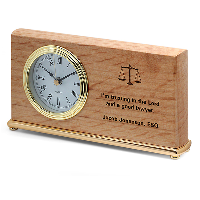 Scales Of Justice Lawyer S Desk Clock