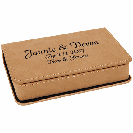 Personalized Light Brown 2 Piece Wine Tool Set