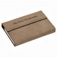 Personalized Light Brown Business Card Case